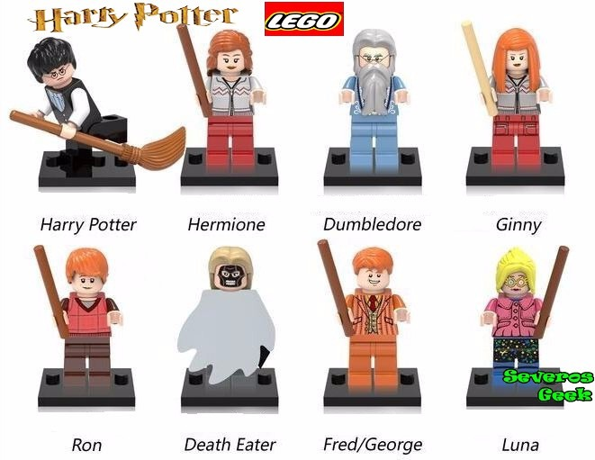 Colecao 8 pcs lego harry potter voldemort hermione - Rone harry potter ...