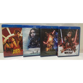 Coleção Blu-ray Star Wars Han Solo Rogue One 7 8 Completo