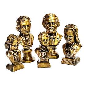 Coleção Bustos De Grandes Compositores - Metalização Bronze