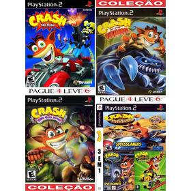 Coleção Crash  Ps2 (6 Jogos Em 4 Dvds ) Patch - Nitro