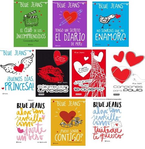 colección 10 libros saga completa blue jeans incluye 3 sagas