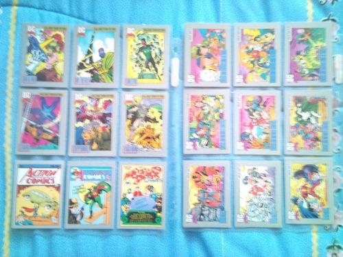 colección 179 tarjetas dc comics 1991 q&a vintage