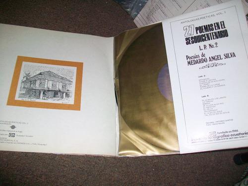 colección 2 long play 27 poemas sesquicentenario de gyquil