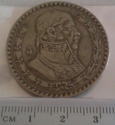 colección 3 monedas antiguas 1 peso de 50´ y 60´s plata .100