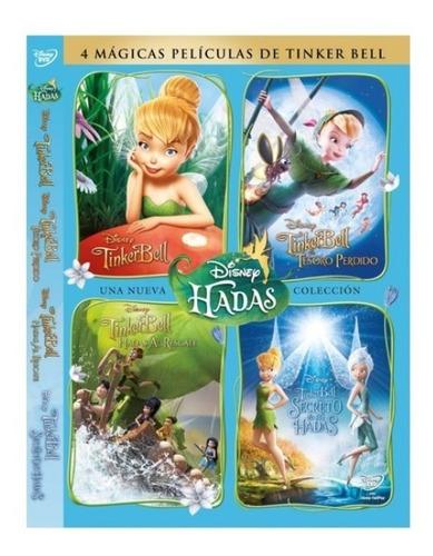 colección 4 dvd  de tinker bell box set nuevo sellado