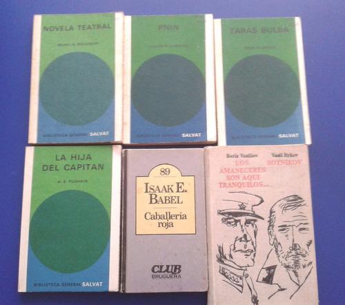 coleccion 6 libros  autores rusos
