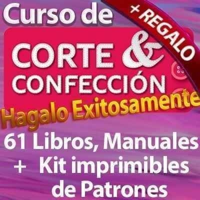 colección 61 libros corte costura confección patrones + bono