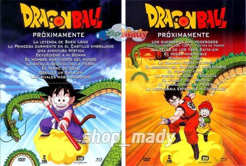 coleccion 7 peliculas dragon ball blu-ray español latino