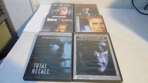 colección 7 películas dvd arnold schwarzenegger accion cine