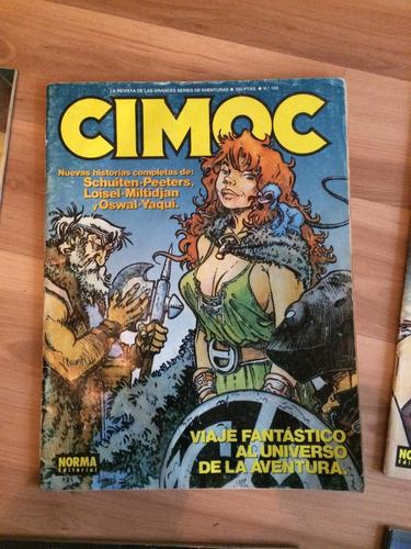 colección 8 revistas cimoc + 1 trauko