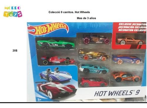 colección 9 carritos hot  wheels