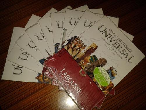 colección 9 tomos de gran historia universal larousse