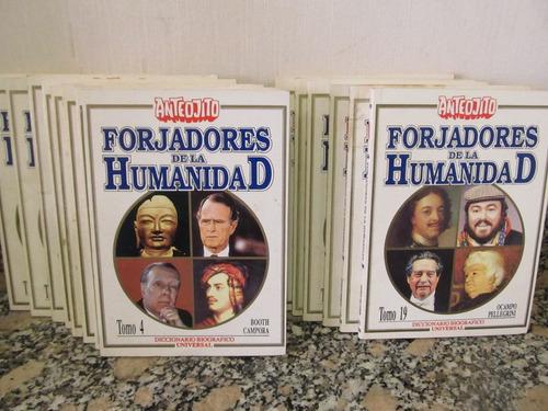 colección anteojito - forjadores de la humanidad - 25 tomos