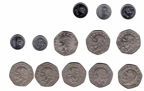 coleccion antiguas mexicanas  10 pesos 1976 al 1989  a1