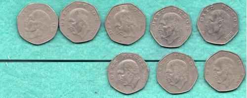 coleccion antiguas mexicanas  diez  pesos   a1