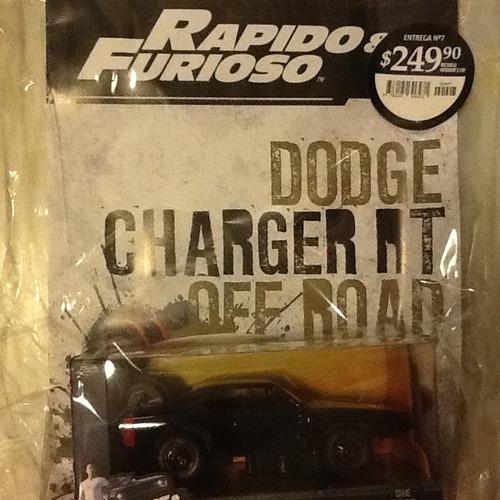 colección autos rápido y furioso n 7 dodge charger rt off