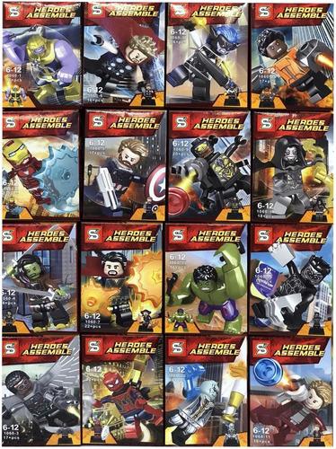 colección avengers infinity war 16 figuras tipo lego batman