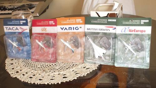 coleccion aviones comerciales 1:1500 miniaturas metalico esc