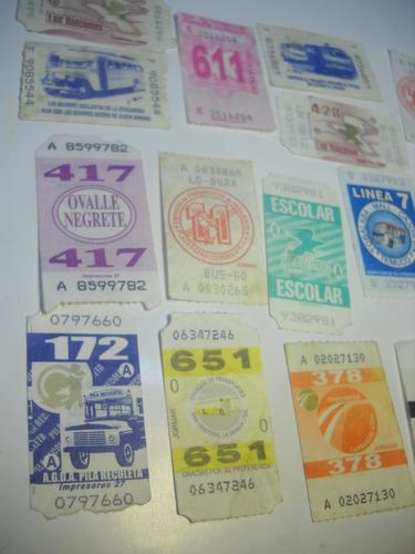 coleccion boletos de micro santiago chile (19)