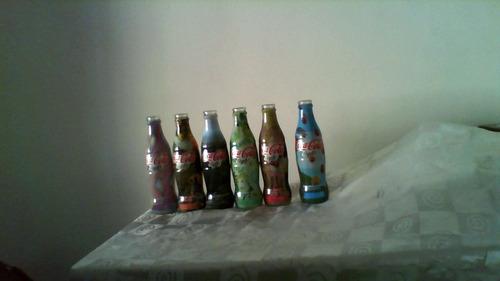 coleccion botellas coca light pinturas