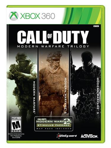 colección call of duty modern warfare - xbox 360