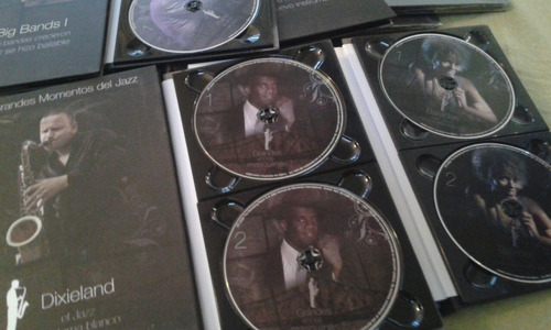 colección cds grandes momentos del jazz. 14 albumes