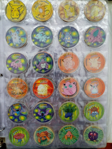 coleccion completa chipi taps tazos pokemon