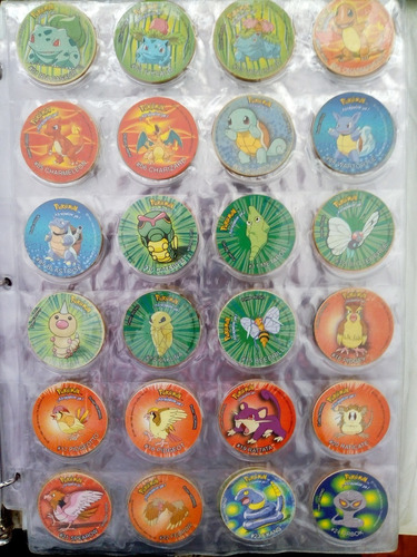 coleccion completa de chipi taps tazos pokemon