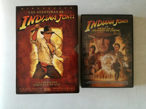colección completa indiana jones - box 5 dvd originales