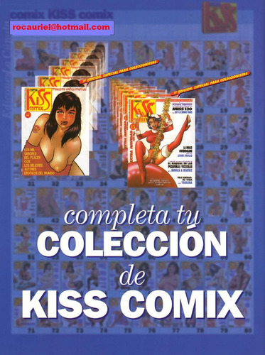 coleccion completa kiss comix xxx  1 al 200  $5.00 c/u