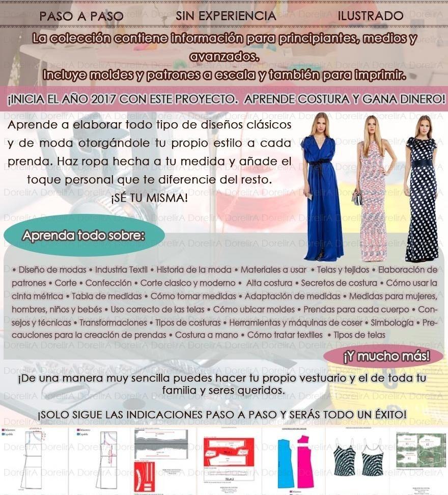 Colección Corte Costura Patrones Confección Bonos Y Más - S/ 7,00 en ...