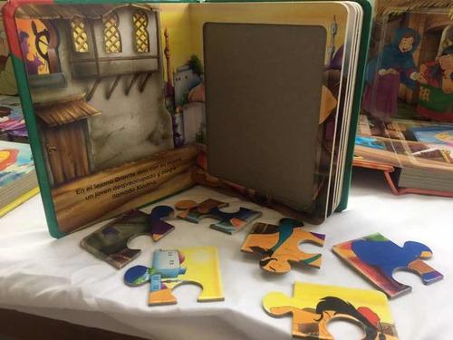 colección cuentos infantiles clásicos disney. rompecabezas.