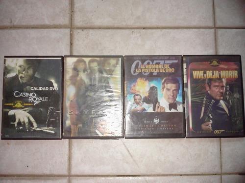 colección de 15 películas de 007 james bond en dvd