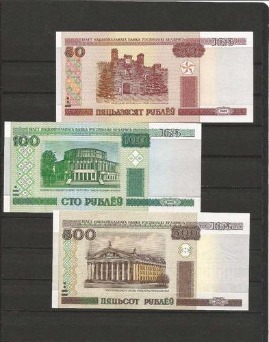 coleccion de 3 billetes belarus