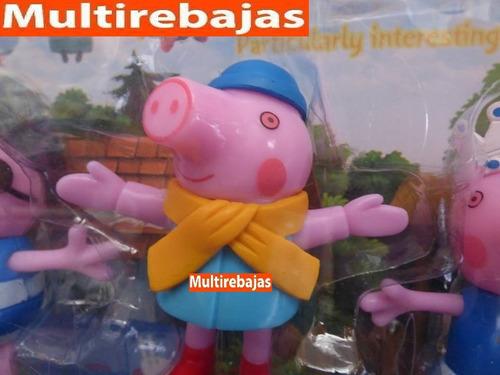 colección de 4 juguetes peppa pig