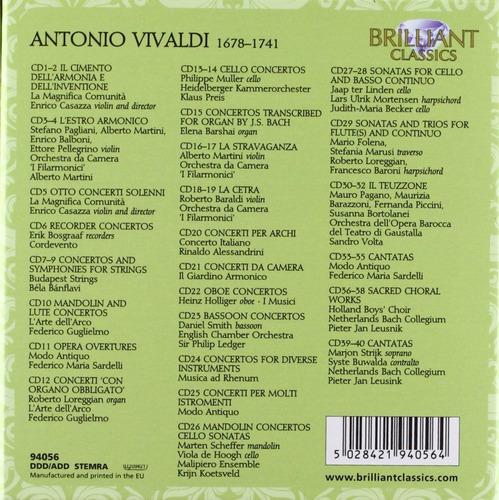 colección de 40 cd's cd-rom vivaldi  edition importado