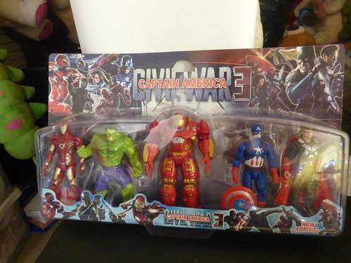 coleccion de 5 muñecos civil war