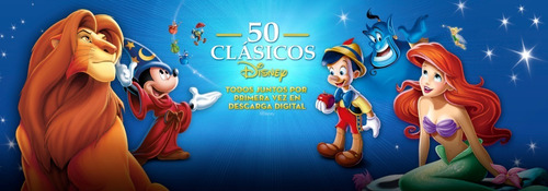 coleccion de 50 peliculas infantiles (clasicos de disney)