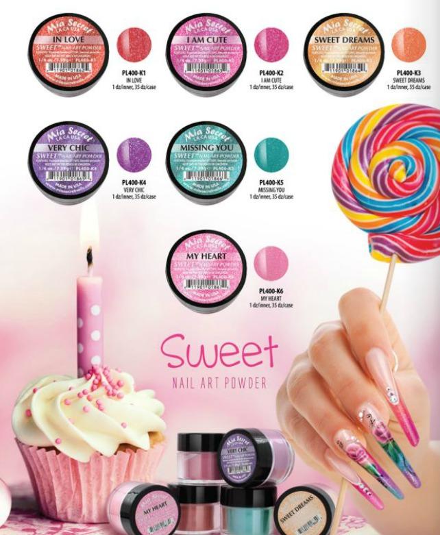 Coleccion De 6 Acrilicos Para Las Uñas Sweet Mia Secret - $ 558.00 ...