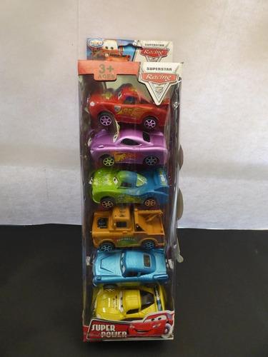 colección de 6 carros racing cars