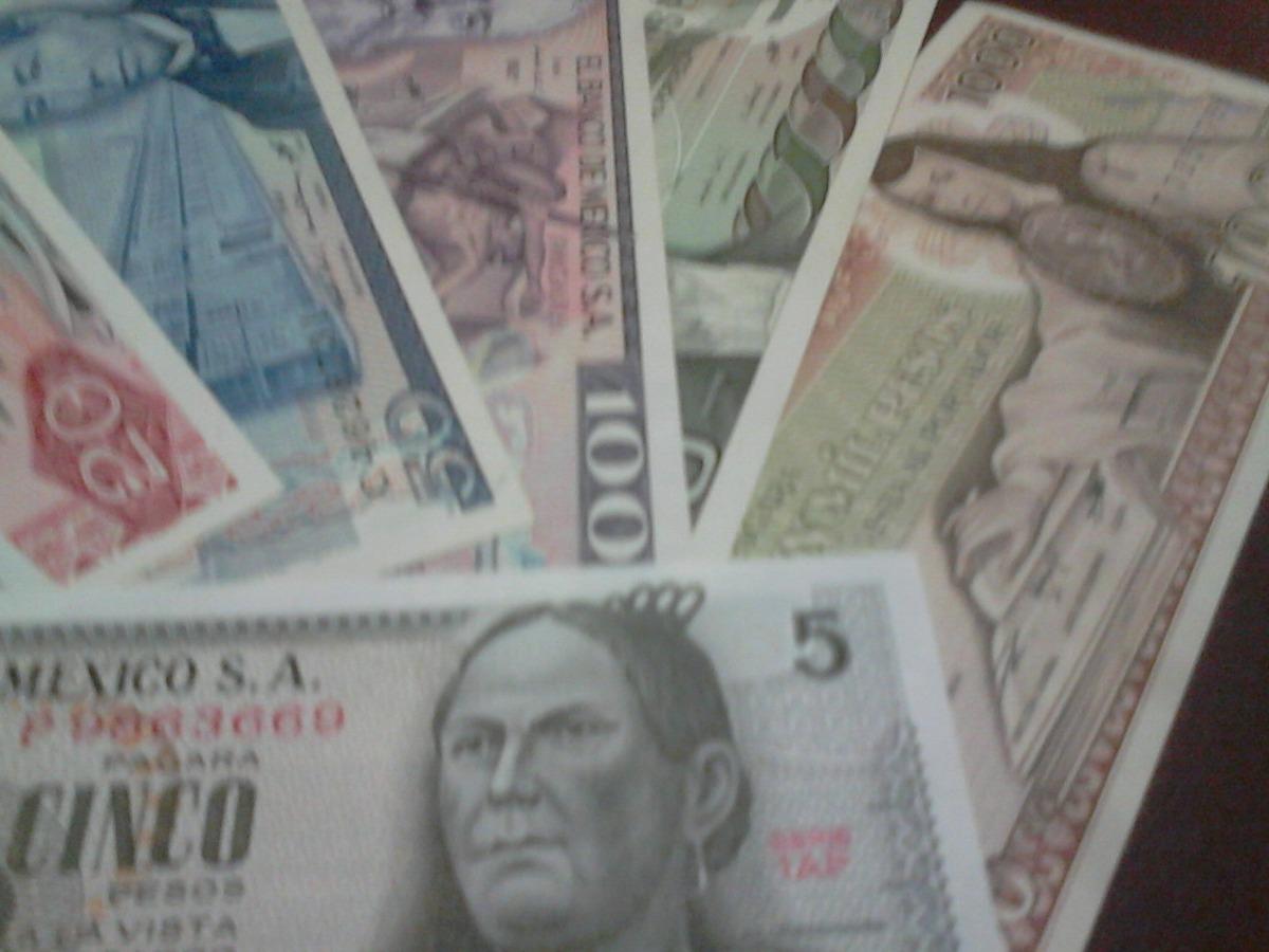 Coleccion De 7 Billetes Mexicanos Sin Circular!!! - $ 119 ...