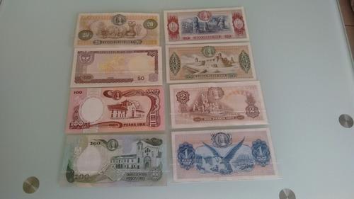 coleccion de 8 billetes de colombia