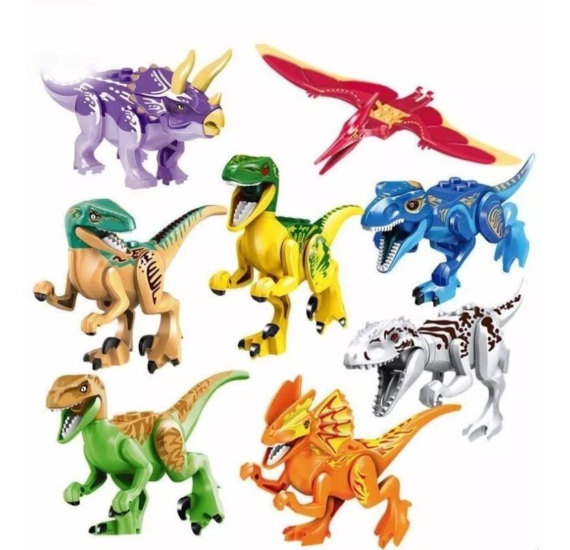 Colección De 8 Dinosaurios Para Armar A Precio De Mayoreo
