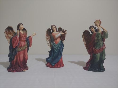 colección de ángeles de porcelana grandeur noel