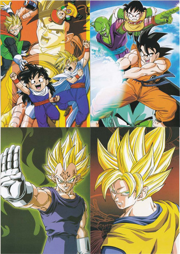 coleccion de arte visual de dragon ball z mod s3 12 cromos