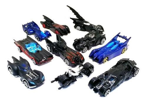 colección de autos batman héroe  x 10 und  metálicos  999-10