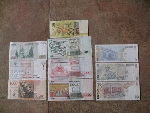colección de billetes de sud américa actuales.