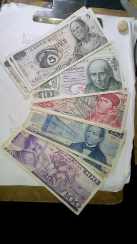 colección de billetes mexicanos antiguos