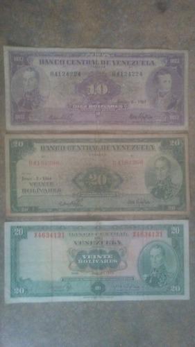 colección de billetes venezolanos antiguos