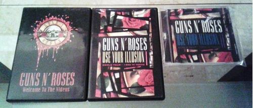 colección de cds y dvds originales de guns n roses